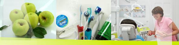 Bild:Professionelle Zahnreinigung
